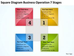 Business Diagrams Templates Square Operation 7 Stages Powerpoint 0522