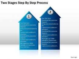 Business Diagrams Two Stages Step By Process Powerpoint Templates PPT Backgrounds For Slides