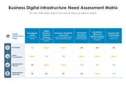Business Digital Infrastructure Need Assessment Matrix