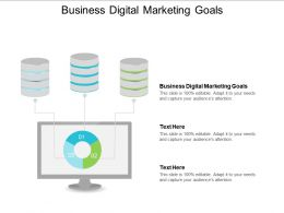 Business Digital Marketing Goals Ppt Powerpoint Presentation Gallery Infographics Cpb