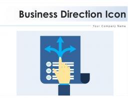 Business Direction Icon Analysis Entrepreneur Formulating Evaluating Strategic