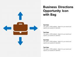Business Directions Opportunity Icon With Bag