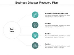 Business Disaster Recovery Plan Ppt Powerpoint Presentation Outline Shapes Cpb