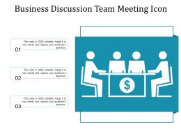 Business Discussion Team Meeting Icon
