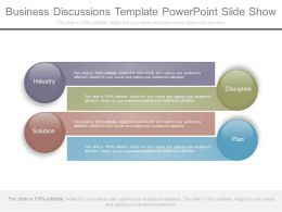 Business Discussions Template Powerpoint Slide Show