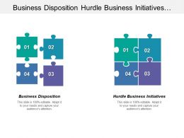 Business Disposition Hurdle Business Initiatives Balance Sheet Management