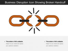 Business Disruption Icon Showing Broken Handcuff