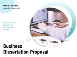 Business Dissertation Proposal Powerpoint Presentation Slides