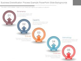 Business Diversification Process Example Powerpoint Slide Backgrounds