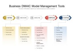 Business DMAIC Model Management Tools