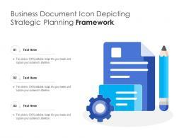 Business Document Icon Depicting Strategic Planning Framework