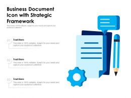 Business Document Icon With Strategic Framework