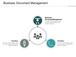 Business Document Management Ppt Powerpoint Presentation Gallery Format Cpb