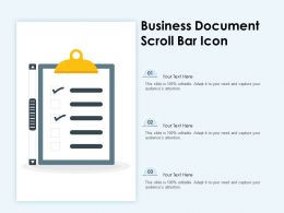 Business Document Scroll Bar Icon
