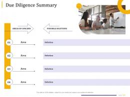 Business Due Diligence Due Diligence Summary Ppt Powerpoint Presentation Introduction