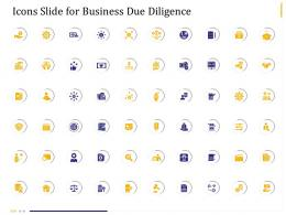 Business Due Diligence Icons Slide For Business Due Diligence Ppt Powerpoint Presentation Icon