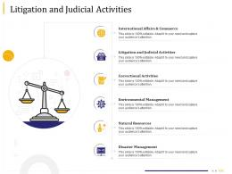 Business Due Diligence Litigation And Judicial Activities Ppt Powerpoint Presentation Deck
