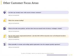Business Due Diligence Other Customer Focus Areas Ppt Powerpoint Presentation Model