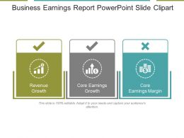 Business Earnings Report Powerpoint Slide Clipart