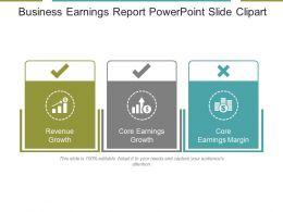 Business Earnings Report Powerpoint Slide Clipart