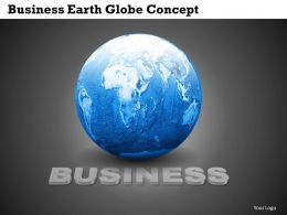 Business Earth Globe Concept Powerpoint Template Slide
