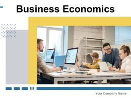 Business Economics Business Analysis Investment Production Magnifying Upward Graph