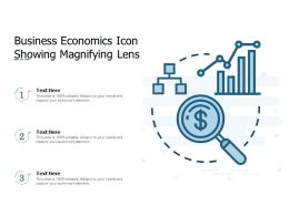 Business Economics Icon Showing Magnifying Lens