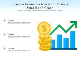 Business Economics Icon With Currency Symbol And Graph