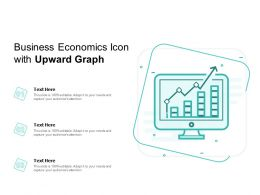 Business Economics Icon With Upward Graph