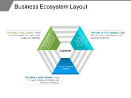 Business Ecosystem Layout Ppt Example 2018