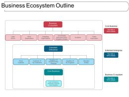 Business Ecosystem Outline Ppt Example File
