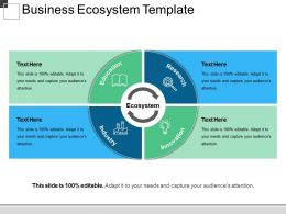 Business Ecosystem Template Ppt Examples Slides