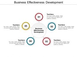 Business Effectiveness Development Ppt Powerpoint Presentationslides Cpb