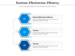 Business Effectiveness Efficiency Ppt Powerpoint Presentation Infographics Aids Cpb