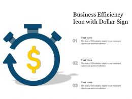 Business Efficiency Icon With Dollar Sign