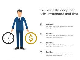 Business Efficiency Icon With Investment And Time