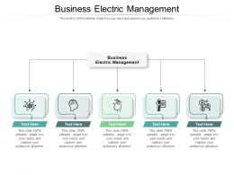 Business Electric Management Ppt Powerpoint Presentation Summary Objects Cpb