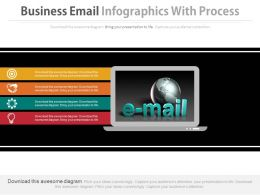 Business Email Infographics With Process Powerpoint Slides