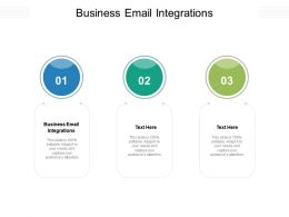 Business Email Integrations Ppt Powerpoint Presentation Styles Template Cpb
