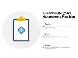 Business Emergency Management Plan Icon