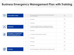 Business Emergency Management Plan With Training