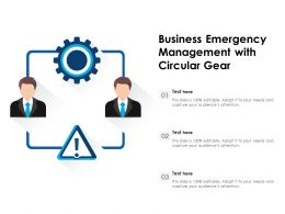 Business Emergency Management With Circular Gear