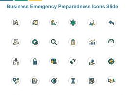 Business Emergency Preparedness Icons Slide Social Ppt Powerpoint Presentation File Example