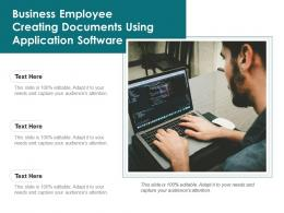 Business Employee Creating Documents Using Application Software