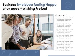 Business Employee Feeling Happy After Accomplishing Project