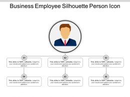 Business Employee Silhouette Person Icon Powerpoint Images