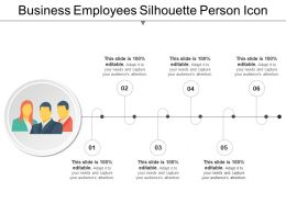 Business Employees Silhouette Person Icon Powerpoint Layout