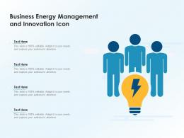 Business Energy Management And Innovation Icon