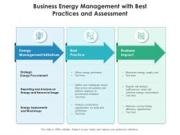 Business Energy Management With Best Practices And Assessment