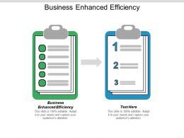 Business Enhanced Efficiency Ppt Powerpoint Presentation Visual Aids Model Cpb